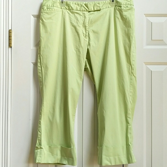 Lane Bryant Pants - Lime green capris